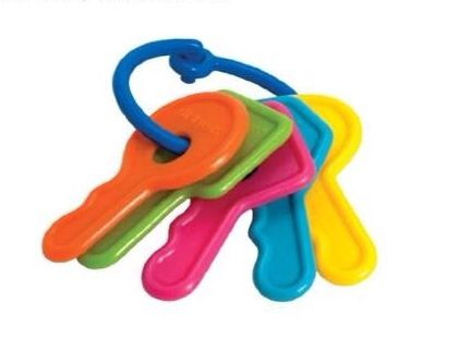 NEW The First Years Keys Baby//Infant Teether Toy Bright Colors Boys Girls