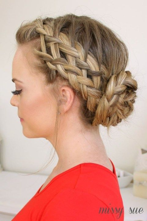 Waterfall Dutch French Braid Updo Hairstyle Httpjexshop