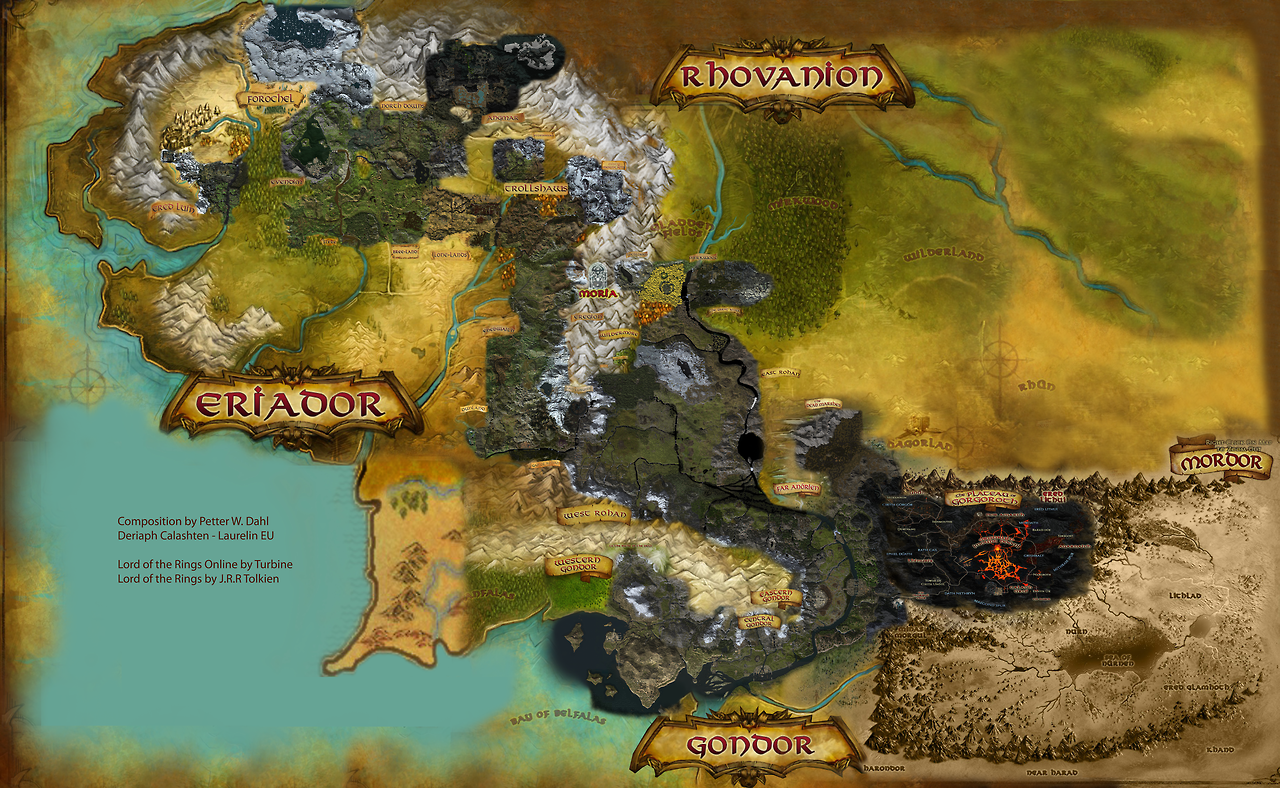 Lord Of The Rings Online World Map.Touch Your Inner Geek Photo Lotro Maps
