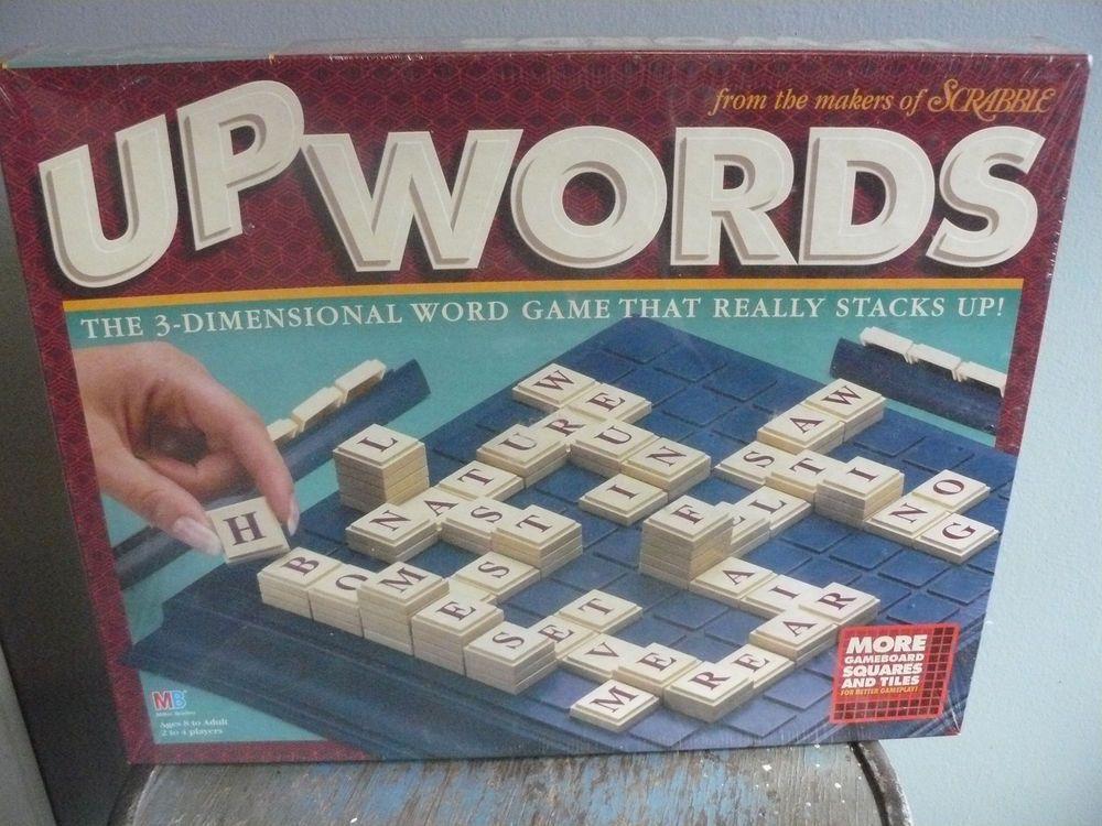 UpWords NEW 1997 Milton Bradley Game FACTORY SEALED 3D