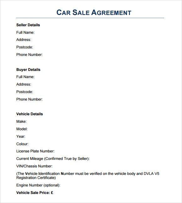 Sales Agreement Templates 3+ Printable PDF  Word Formats