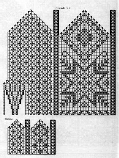mittens vantar, looks like old northern pattern , sweden norway Картинка
