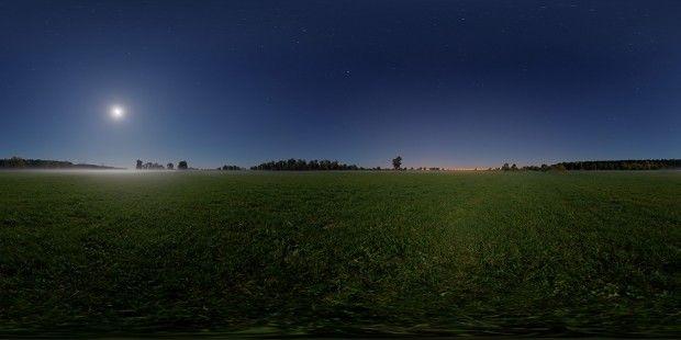 night hdri background skybox