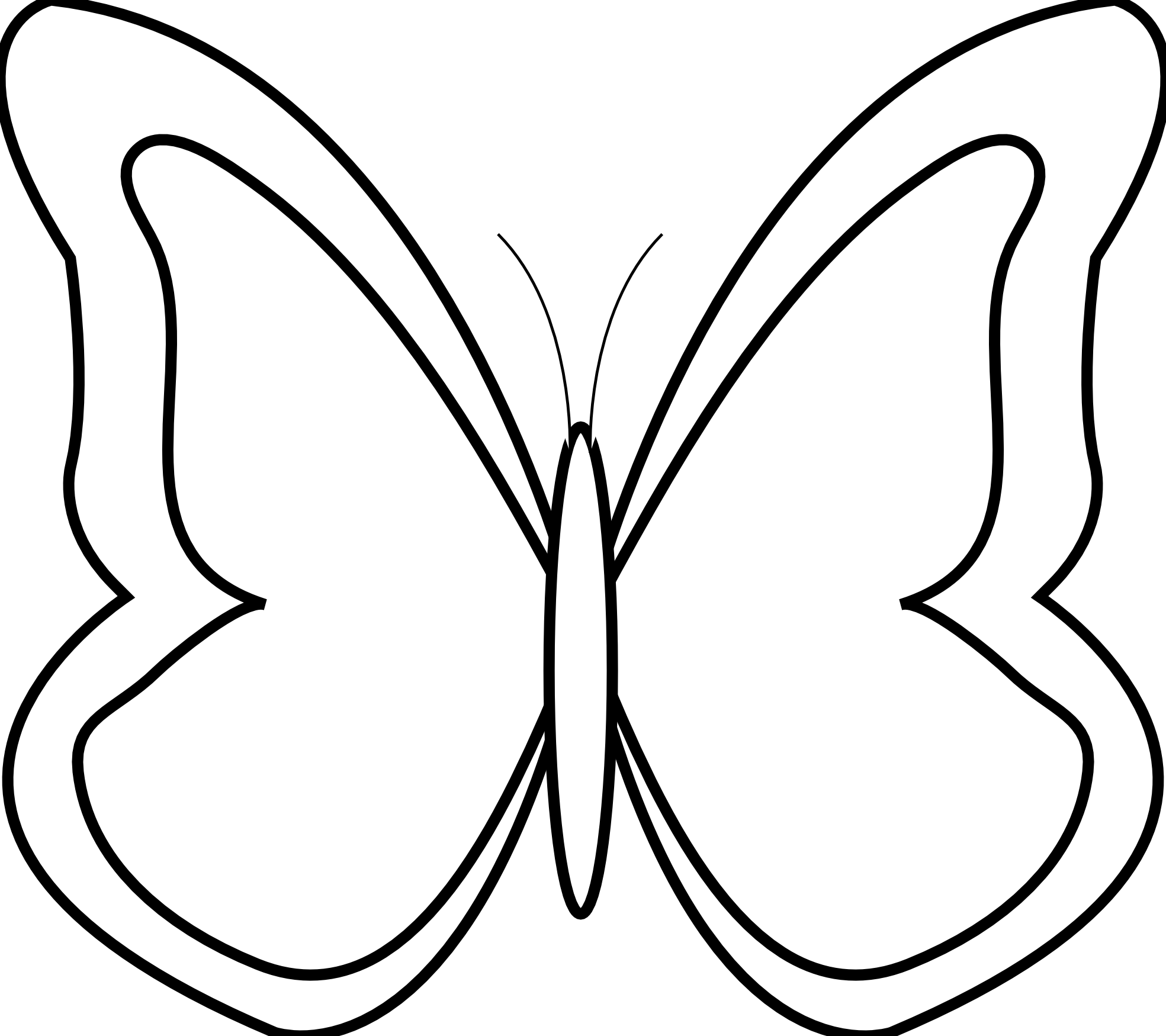 Butterfly 26 Black White Line Art Scalable Vector Graphics Svg Inkscape Adobe Illustrator Clip A Butterfly Clip Art Butterfly Black And White Butterfly Outline [ 1750 x 1969 Pixel ]