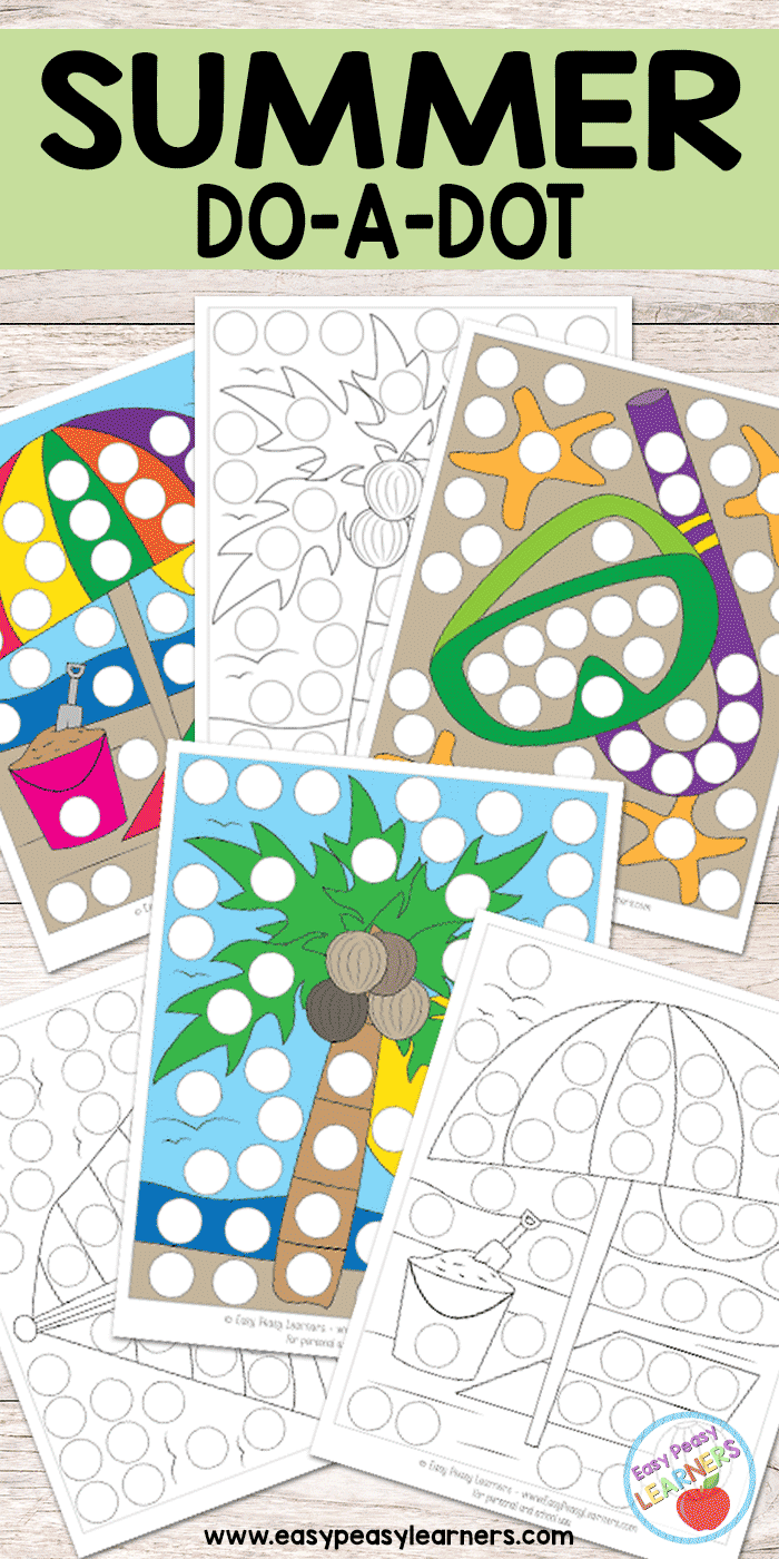 Summer - Do a Dot Printables | OT Ideas (early writing ...