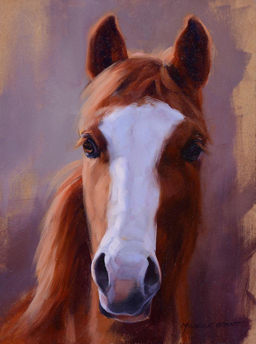 Michelle Grant Portfolio Of Works Paintings Paarden Portret [ 1200 x 895 Pixel ]