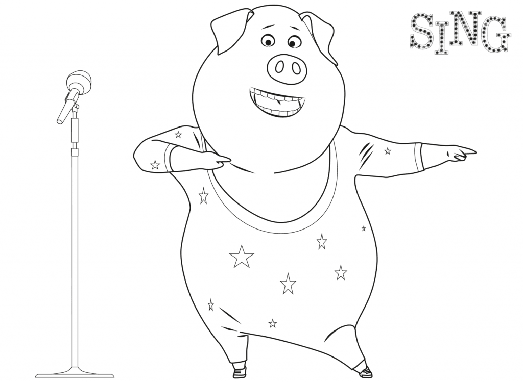 Sing Coloring Pages Best Coloring Pages For Kids In 2020 Sing Movie Coloring Pages Christmas Coloring Pages