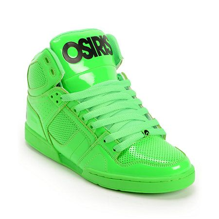 358f3144133 Osiris NYC 83 Green Blacklight Skate Shoes in 2019 | shoes | Shoes ...