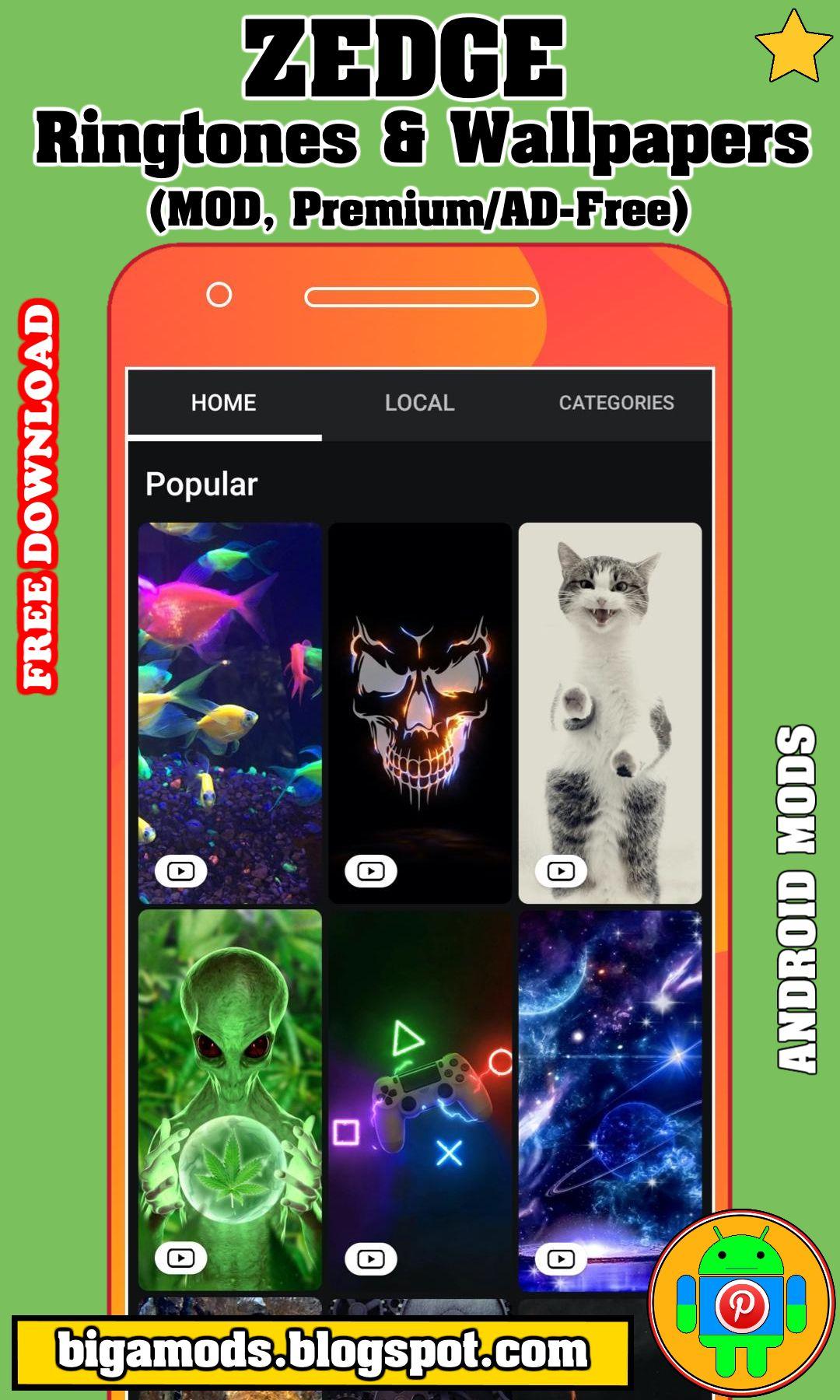 Zedge Ringtones Wallpapers Mod Premium Ad Free Download Zedge Ringtones Wallpapers Mod In 2021 Ringtones For Android Ringtones Android Apps