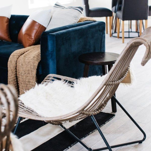 Taupe Rattan Flynn Lounger Chair By World Market