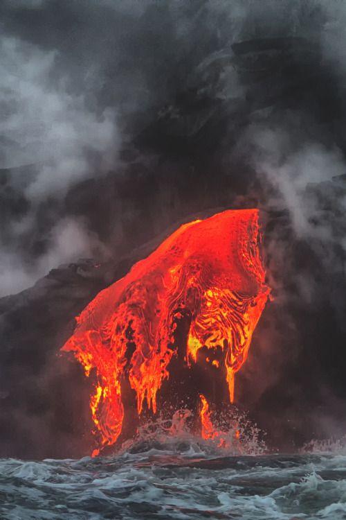 lsleofskye:  Lava Ocean Entry