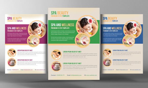 Architecture Consultant Flyer by Party Flyers on @creativemarket - spa brochure template