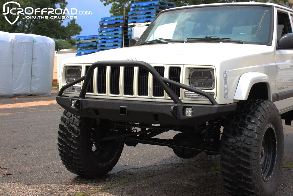 Jcr Defender Prerunner Front Bumper Xj Cherokee With Images Jeep Xj