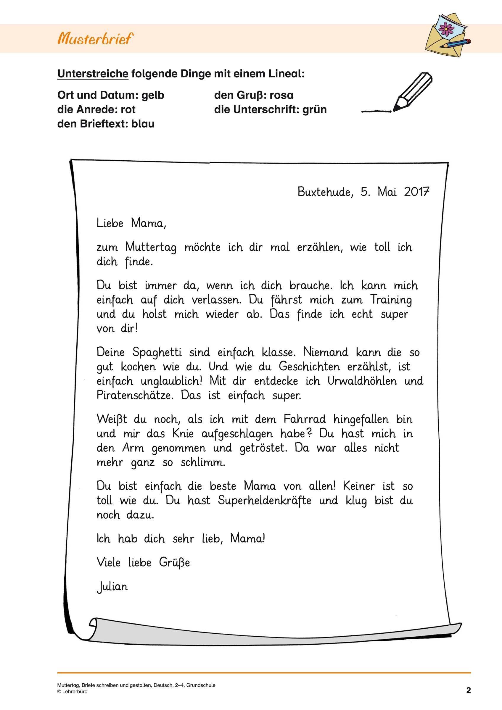 21+ brief schreiben 5 klasse | freyajacklin | Briefe