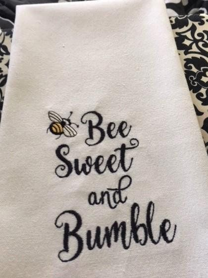 Bees - Be Uncommon - Kitchen Dish Towel, Tea or Bar Towel, Hand or Guest Towel #dishtowels