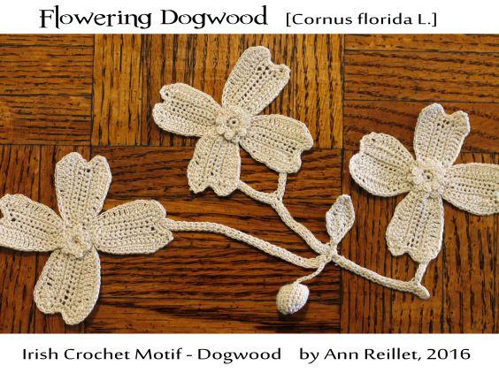 Irish Crochet Motif Flowering Dogwood Crochet Irishrussian