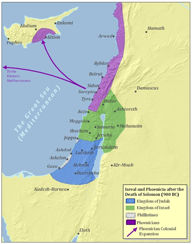 Ancient israel and phoenicia 900 bc old world maps charts ancient israel and phoenicia 900 bc gumiabroncs Image collections
