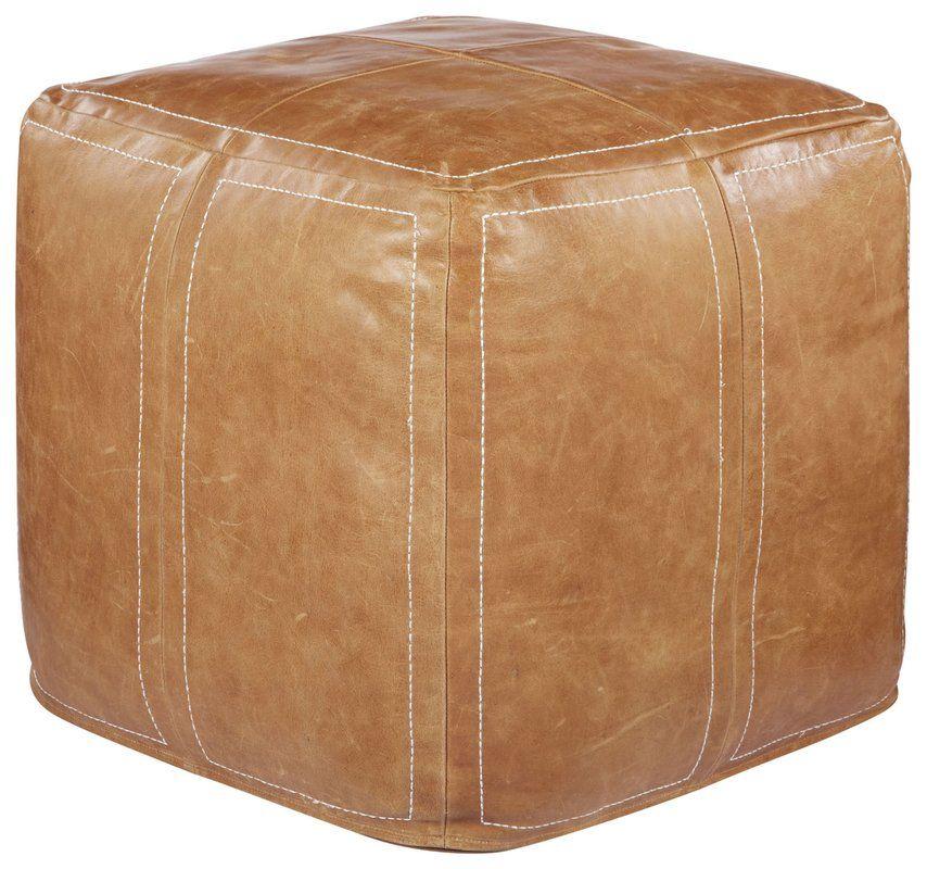 Leather Ottoman Leather Cube Ottoman Leather Ottoman Pouf