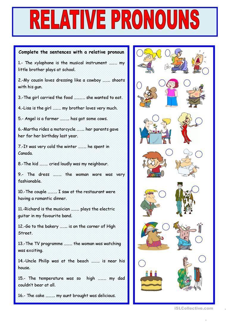 worksheet Relative Pronouns Worksheet 5th Grade relative pronouns worksheet free esl printable worksheets made by teachers