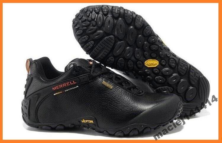 Merrell Chameleon Storm 2 Leather Czarne Nis 40 44 Merrell Shoes Mens Black Shoes Work Shoes