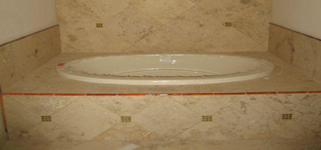 tile around tub surround | bathroom | Pinterest | Tub surround, Tubs ...