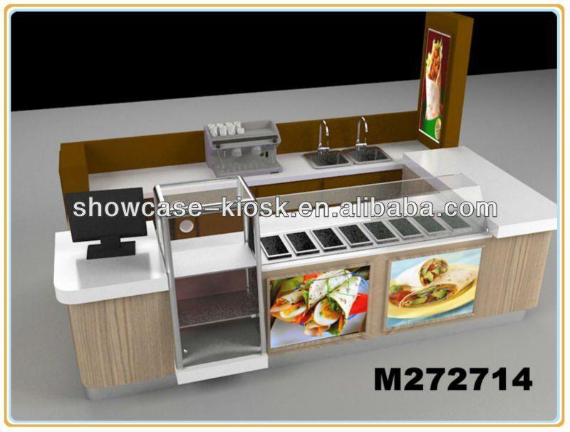Indoor Centro Comercial Quiosco De Comida Rapida De Diseño