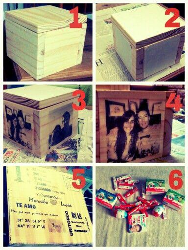 Regalo primer aniversario se necesita 1 caja de madera 1 - Regalos de primer aniversario ...