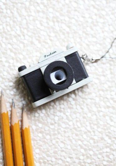 Retro Camera Pencil Sharpener