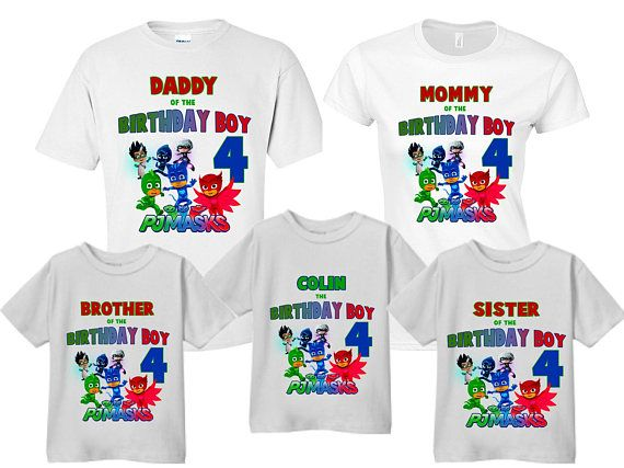 Pj Masks Shirts Family Of Birthday Boy Mom Dad Sister Brother Customized Mas