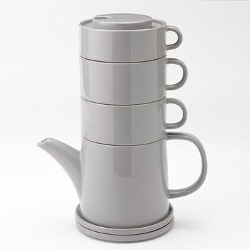 Tea Tower 4 Two Cool Gray  by Yedi Houseware  $39