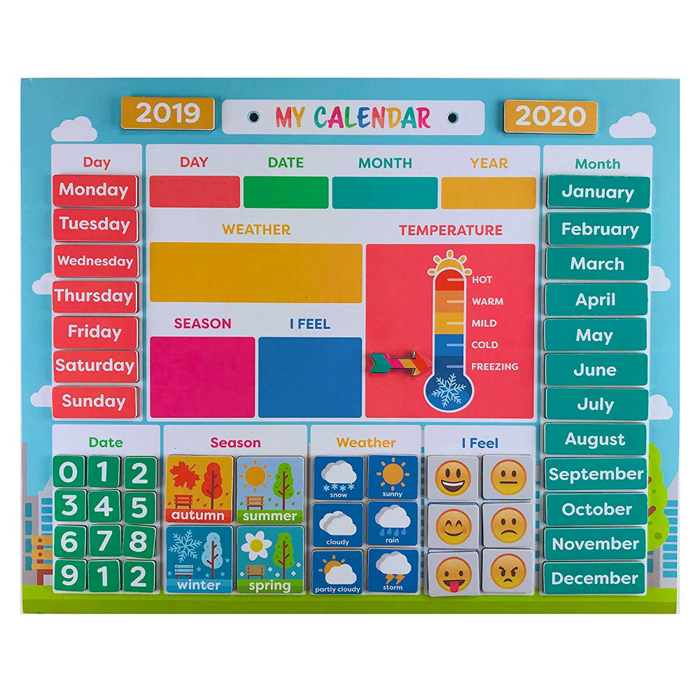 Amazon Com My First Daily Magnetic Calendar Weather Station For Kids Moods And Emotions Prescho In 2020 Classroom Calendar Classroom Calendar Set Kids Calendar