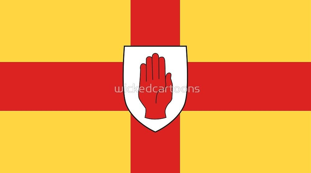 Ulster By Wickedcartoons Redbubble Flags Of The World Flag Tapestry Throw