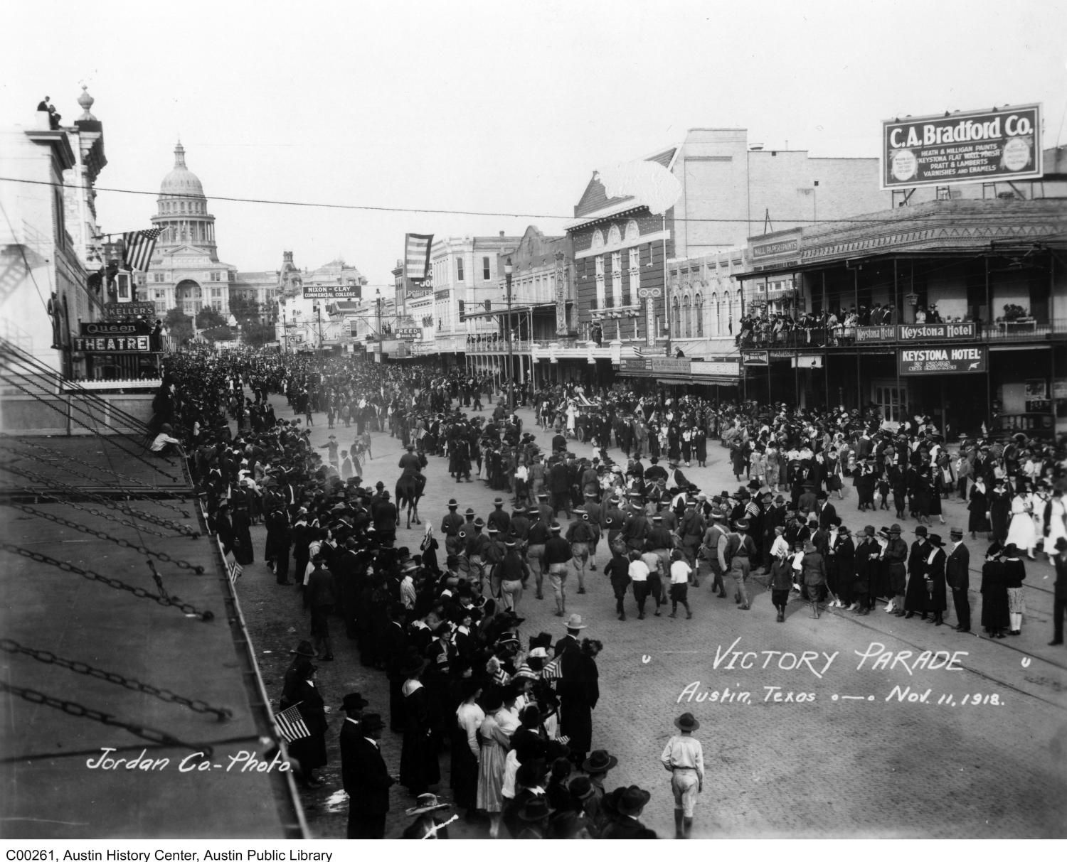 November 11 1918 armistice day parade austin texas for Jewelry stores in texas
