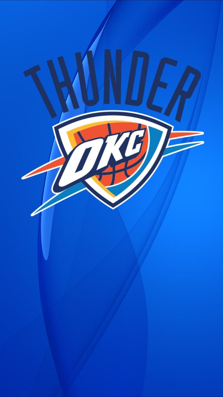 Okc Oklahoma Thunder Wallpaper Iphone Android Okc Thunder Thunder Basketball Oklahoma City Thunder