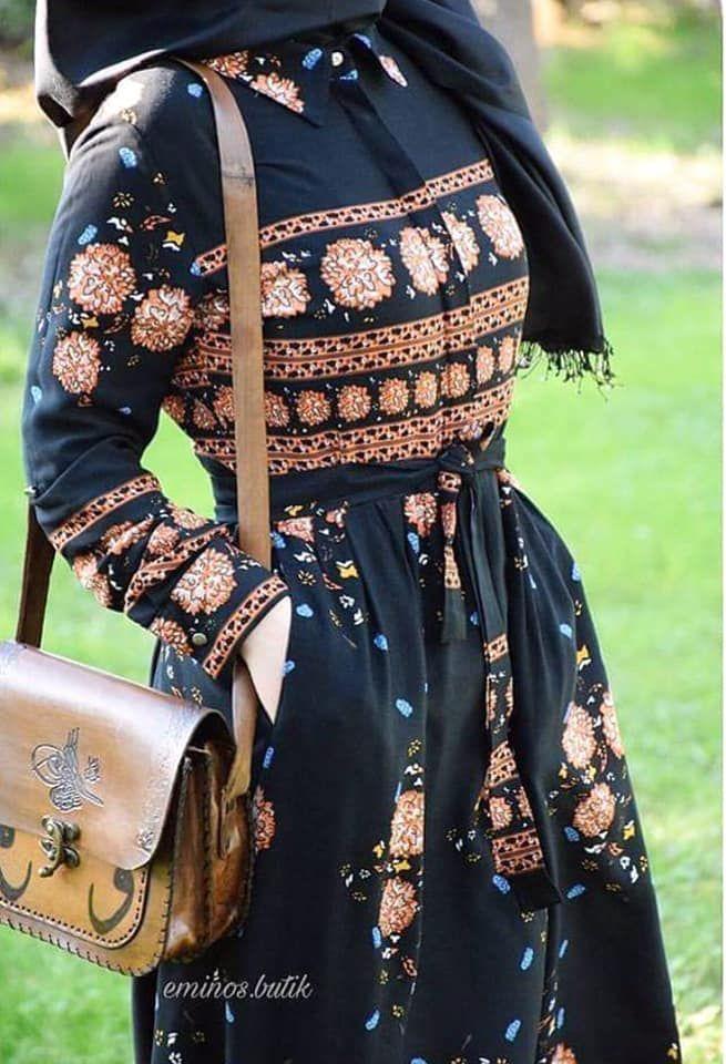 فساتين كاجوال محجبات صيف 2018 Hijabs Mode Hijab Robe