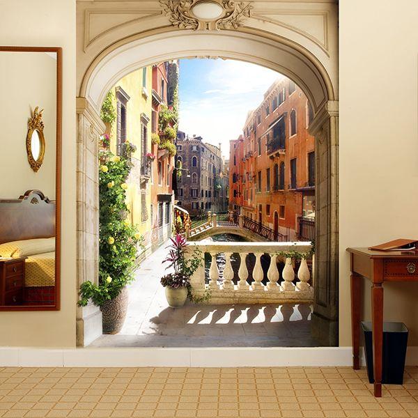 Papier Paint Vinyle Portique à Venise #papierpeint #vinyle #mur