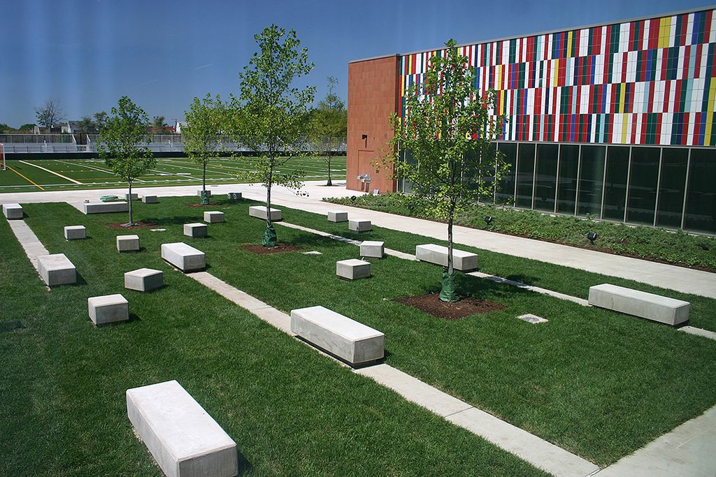 Back of the Yards High School rear reading garden 4x6 ...