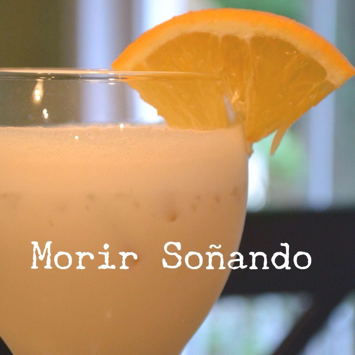 Morir Soñando (Die Dreaming virgin drink)  www.sundaycena.blogspot.com Serves about 5-6 / 1.5 cups of Orange Juice (or freshly squeezed Oranges), 2 cups of Milk (or evaporated milk), 1 cup of brown sugar, 1 teaspoon vanilla extract, 1 cup of ice - blend & enjoy