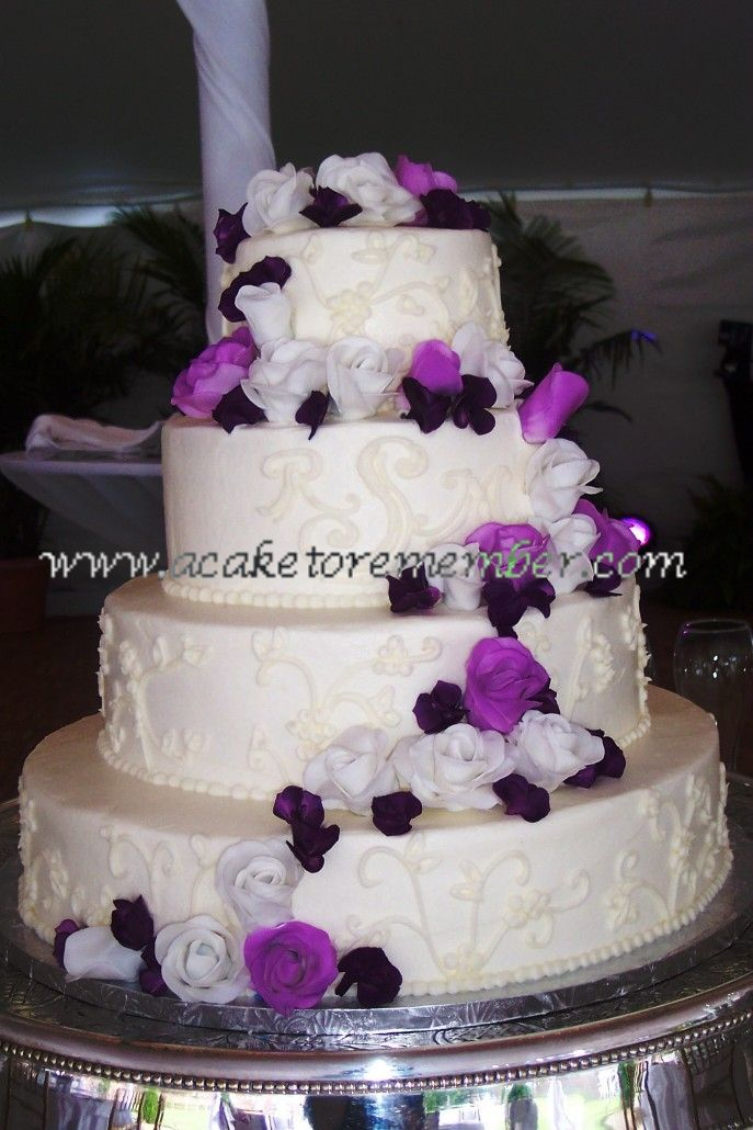 Purple And Silver Wedding Cakes Lilac