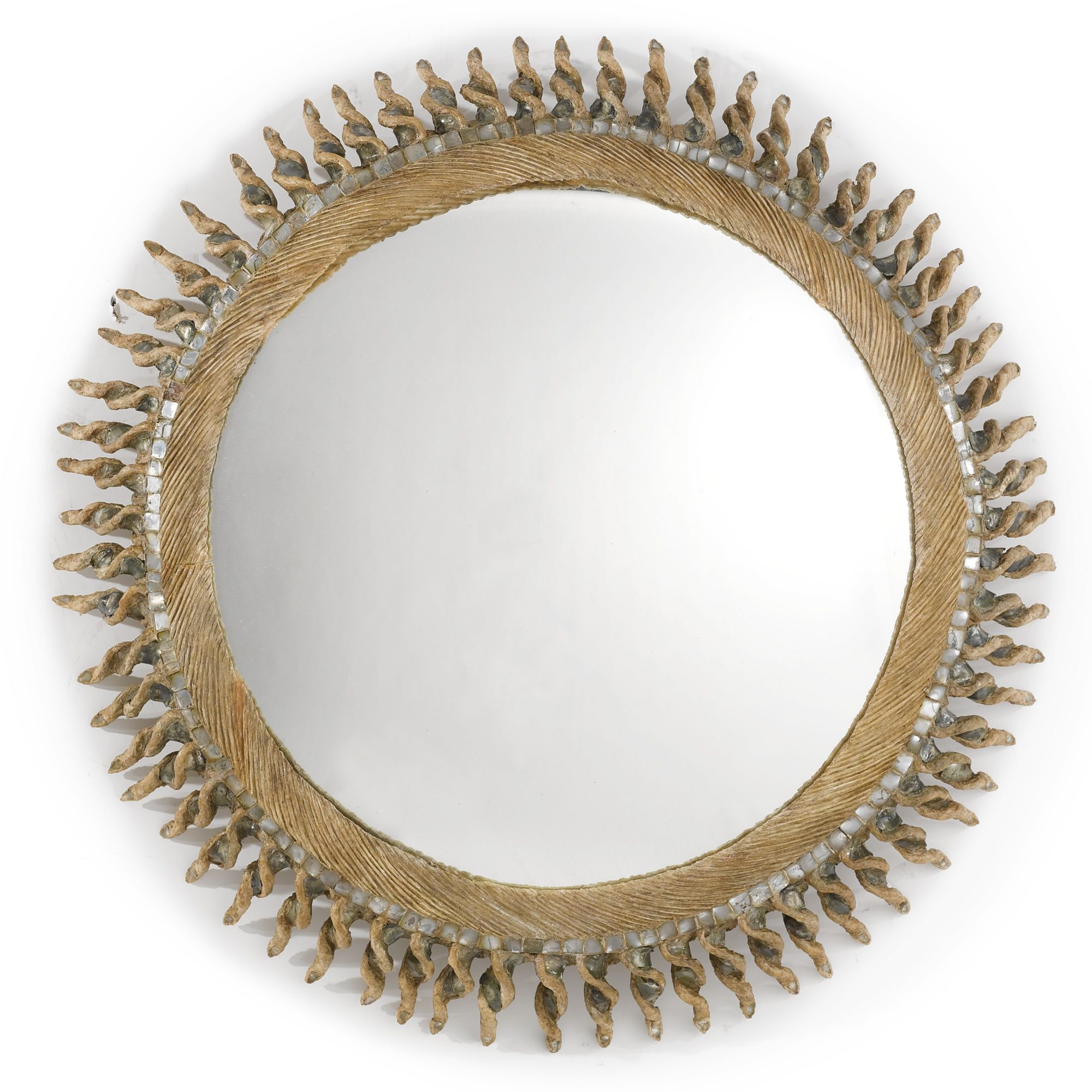 Line Vautrin Torsade Mirror Incised Line Vautrin Talosel And Mirroed Glass 31 1 2 In 80 Cm Diameter Circa 1960 Vautrin Miroir Mural Miroir Convexe