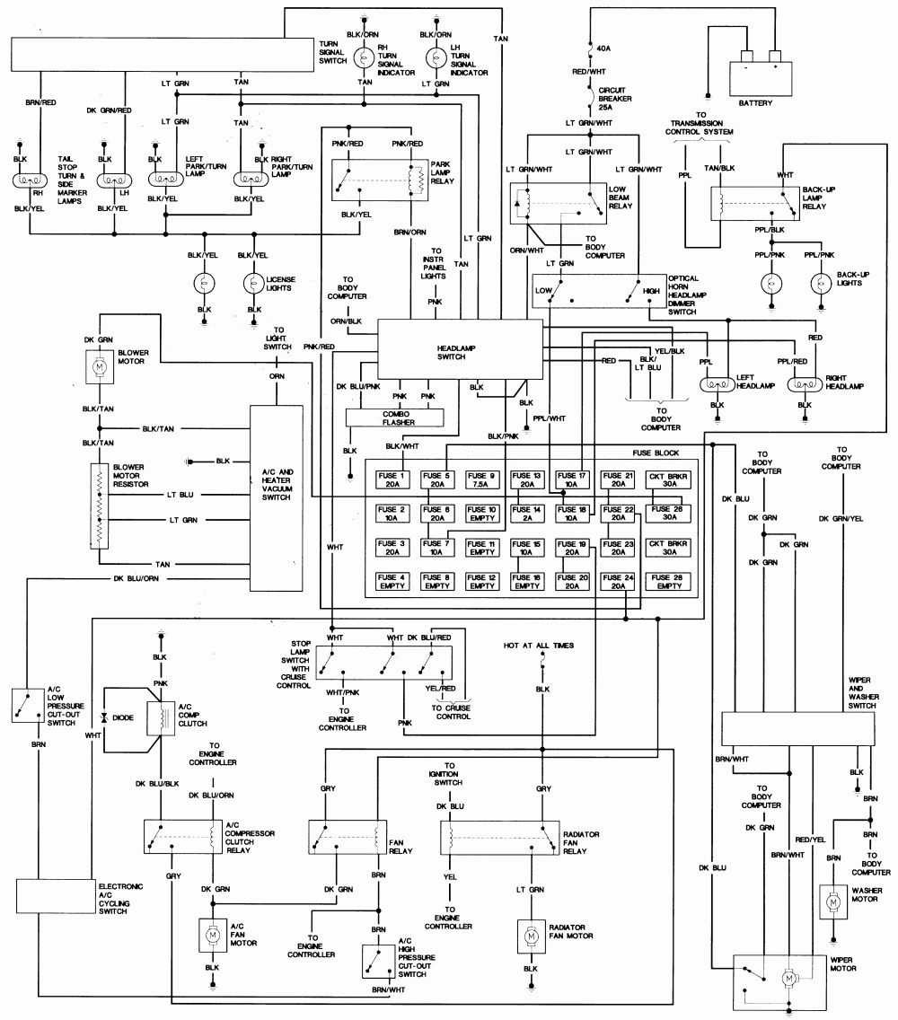 Repair Guides Wiring Diagrams Wiring Diagrams Autozone Inside 1990 Jeep Wrangler Wiring Diagram Coches Mercedes Benz Mercedes Benz Mercedes