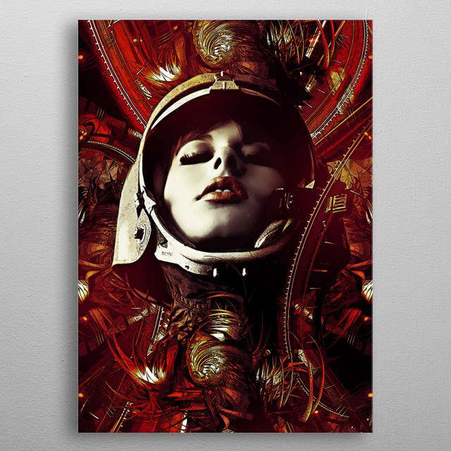 Abstract girl mission to mars | Displate thumbnail