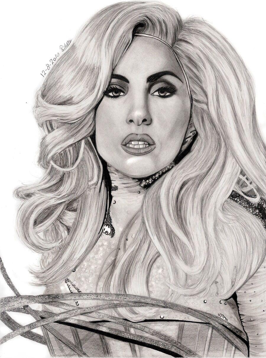 Lady Gaga Drawing. | Lady gaga, Lady, Illustrations posters