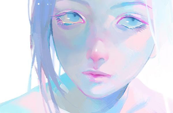 Empty Lines Illustration Art Girl Art Art Girl