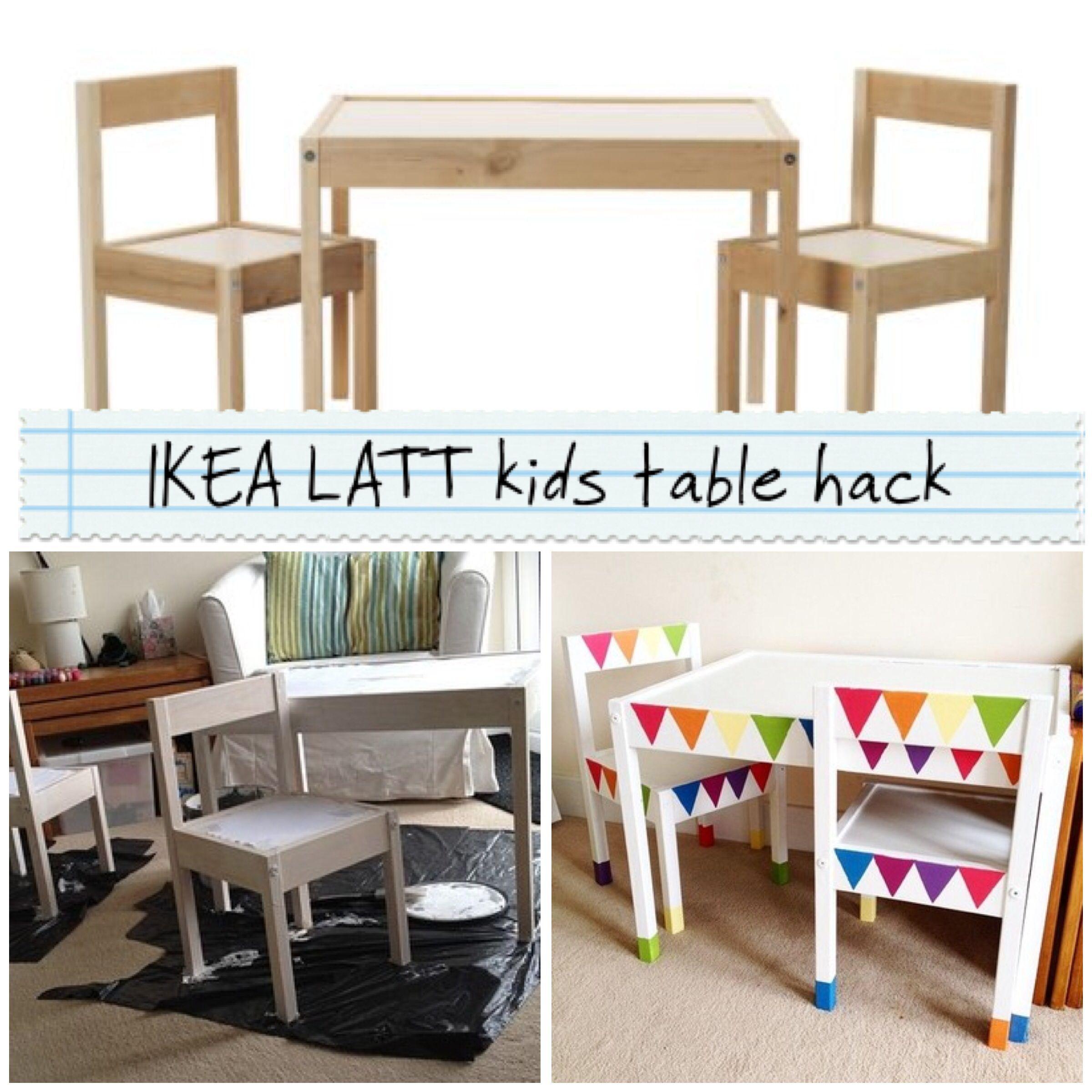 Kids Bedroom Bunting ikea latt kids table hack - rainbow bunting   play   pinterest