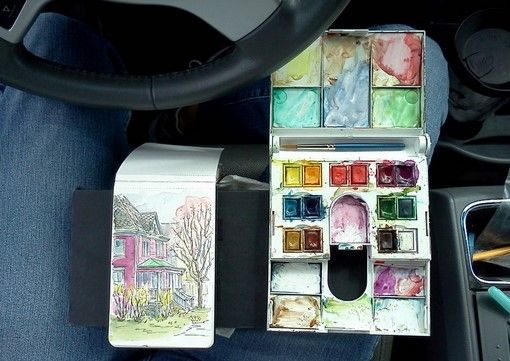 Everyday Artist: My Homemade Sketch Kit for Painting On the Go