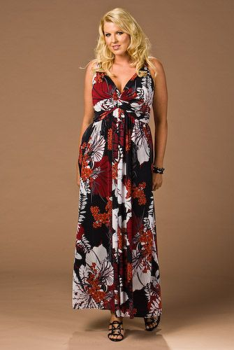 Summer long dresses for plus size women
