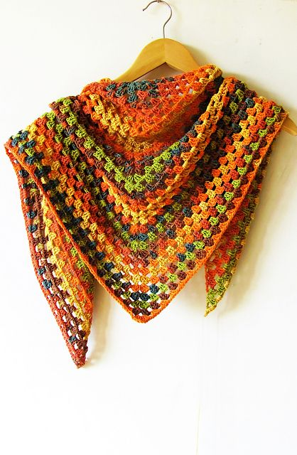 Ravelry: Project Gallery for The Original Half Granny Square/Shawl ...
