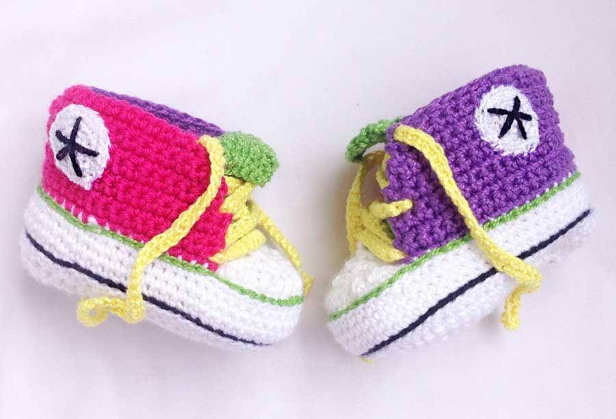 botitas crochetpara bebé estilo converse patrones - Buscar con Google