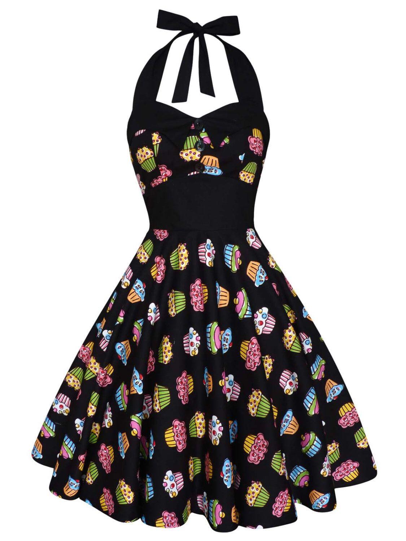 Cupcake Dress Party Dress Pin Up Dress Rockabilly Dress Plus Size ...